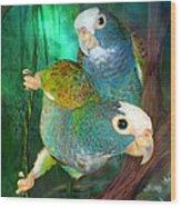 Pionus In Paradise Wood Print