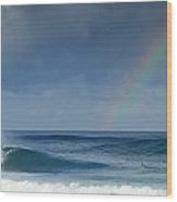 Pipe At The End Of The Rainbow Wood Print