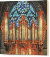 Pipe Organ Wood Print