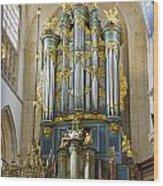 Pipe Organ In Breda Grote Kerk Wood Print