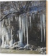 Pipecreek Icicles Wood Print