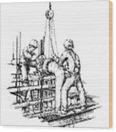 Pipefitters Wood Print by Steve Knapp
