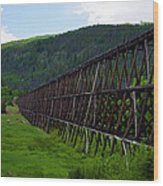 Pipeline Trestle Wood Print