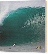Pipeline Wave Hawaii Wood Print