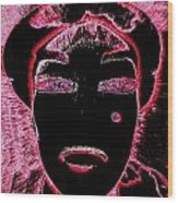 Pippas Pink Beauty Mark Wood Print