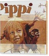 Pippi Longstocking - Fan Version Wood Print
