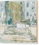 Piran - Square 1st May Wood Print