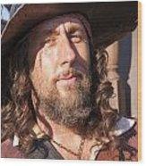 Pirate Captain Wood Print