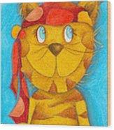 Pirate Cat Wood Print