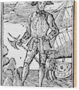 Pirate Edward England Wood Print