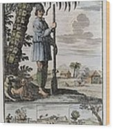 Pirate. Engraving. Figure Wood Print by Everett