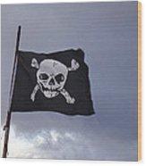 Pirate Flag Wood Print