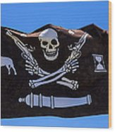 Pirate Flag With Skull And Pistols Wood Print