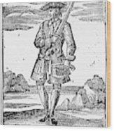 Pirate John Rackam, 1725 Wood Print