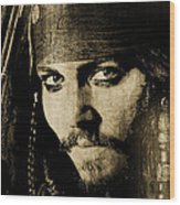 Pirate Life - Sepia Wood Print
