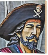 Pirate Man Wood Print