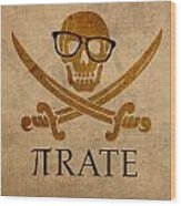 Pirate Math Nerd Humor Poster Art Wood Print