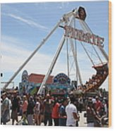 Pirate Ship At The Santa Cruz Beach Boardwalk California 5d23854 Wood Print by Wingsdomain Art and Photography