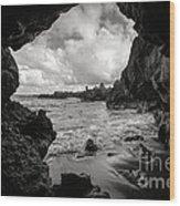 Pirate Treasure Cave Pa'iloa Beach Wood Print