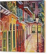 Pirates Alley By Night Wood Print