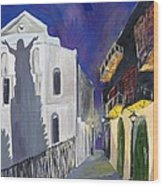 Pirate's Alley French Quarter Painting  Wood Print