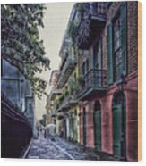 Pirate's Alley In New Orleans Wood Print