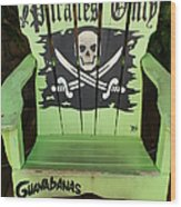 Pirates Only Wood Print