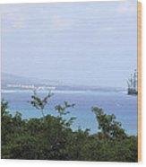 Pirates Ship Wood Print
