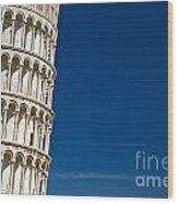 Pisa - The Leaning Tower Wood Print