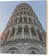 Pisa Leaning Tower At Sunset Tuscany Wood Print
