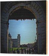 Pisa Square Wood Print