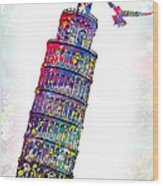 Pisa Tower  Wood Print