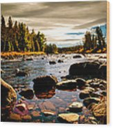 Piscataquis River Dover-foxcroft Maine Wood Print