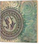 Pisces Mandala Wood Print