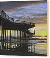 Pismo Sunset View Wood Print