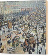 Pissarro's Boulevard Des Italiens In Morning Sunlight Wood Print