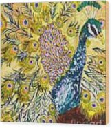 Pistacio Peacock Wood Print