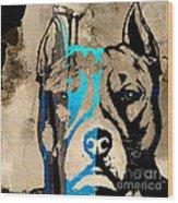 Pitbull Wood Print