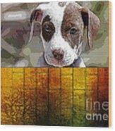 Pitbull Puppy Wood Print