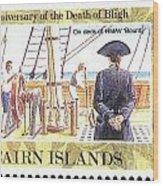 Pitcairn Island Stamp Wood Print