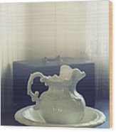 Pitcher And Basin Wood Print