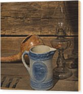 Pitcher Cup And Lamp Wood Print