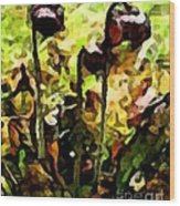 Pitcher Plant Abstraction Wood Print