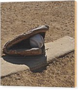 Pitchers Mound Wood Print by Bill Cannon
