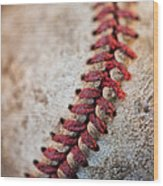 Pitchers Stitches Wood Print