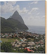 Pitons St. Lucia Wood Print