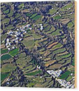 Pitres And Capilerilla From The Air Wood Print