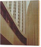 Pitt Towers Wood Print