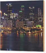 Pittsburgh After The Setting Sun Wood Print