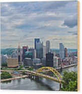 Pittsburgh And Above Wood Print